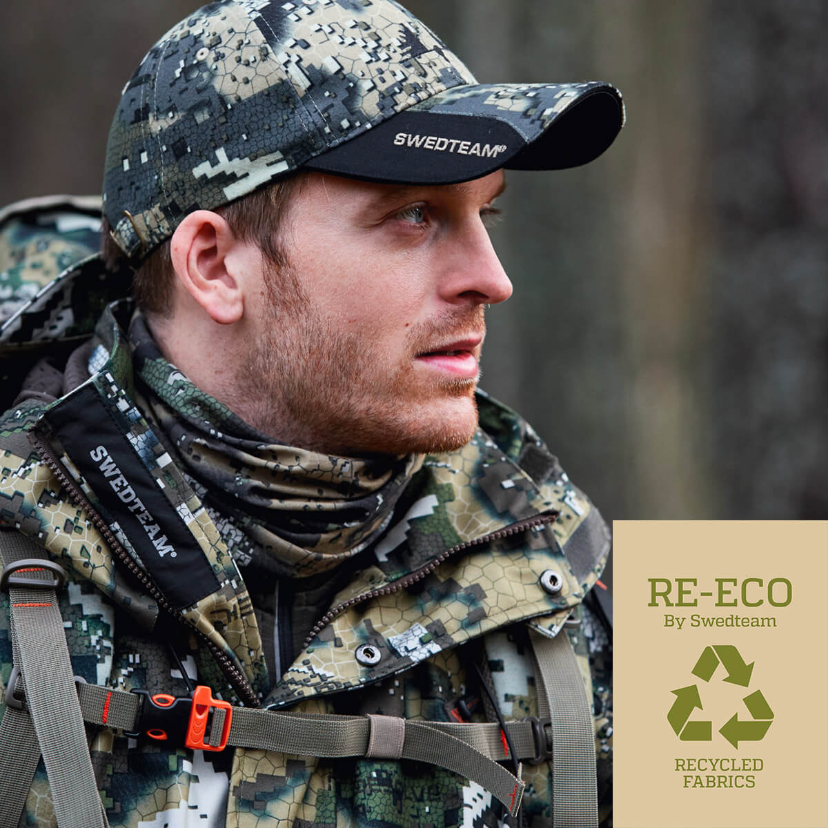 Hunter with the Swedteam Re-Eco collection